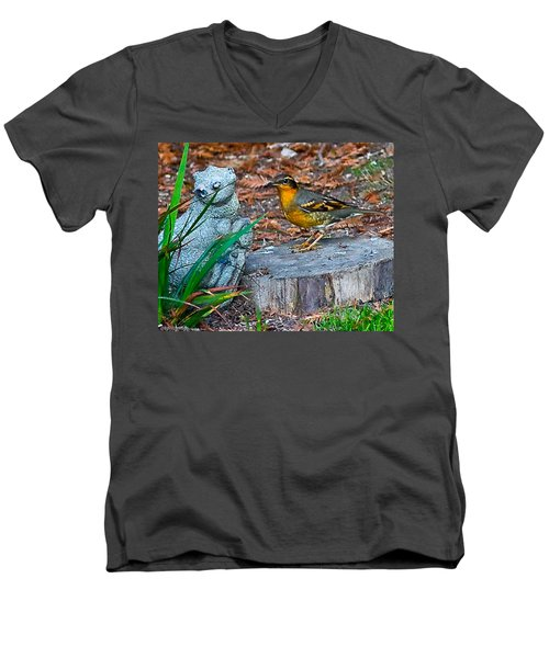 Men's V-Neck T-Shirt featuring the photograph Vared Thursh by Brian Williamson