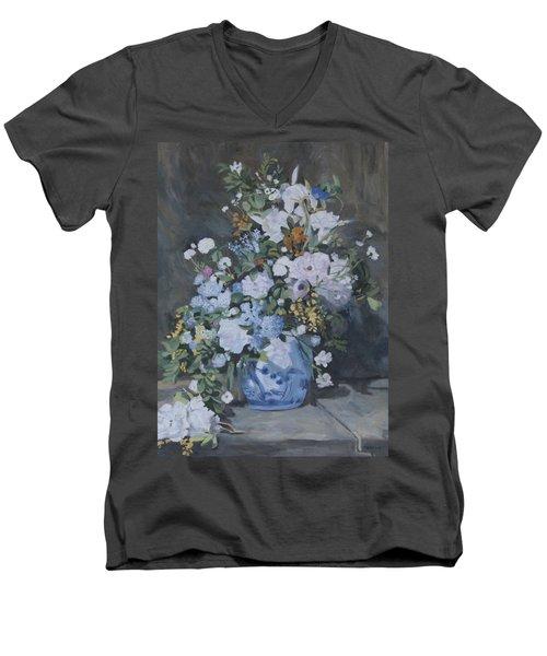 Vase Of Flowers - Reproduction Men's V-Neck T-Shirt