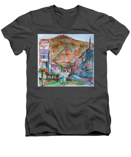 Vegas Men's V-Neck T-Shirt