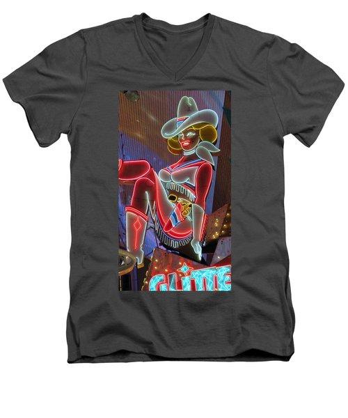 Vegas Vicky Men's V-Neck T-Shirt