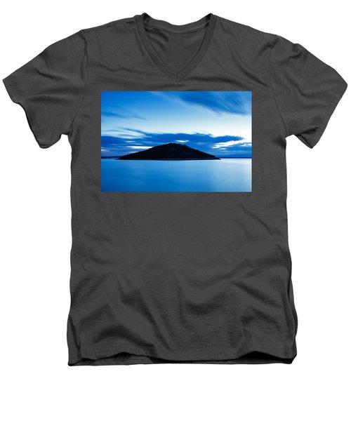 Veli Osir Island At Dawn Men's V-Neck T-Shirt