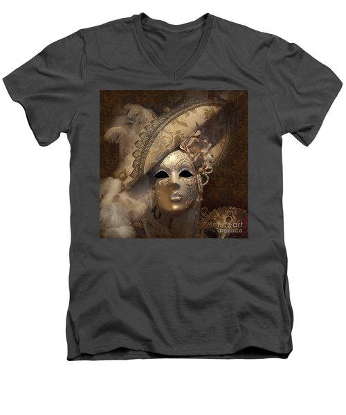 Venetian Face Mask F Men's V-Neck T-Shirt