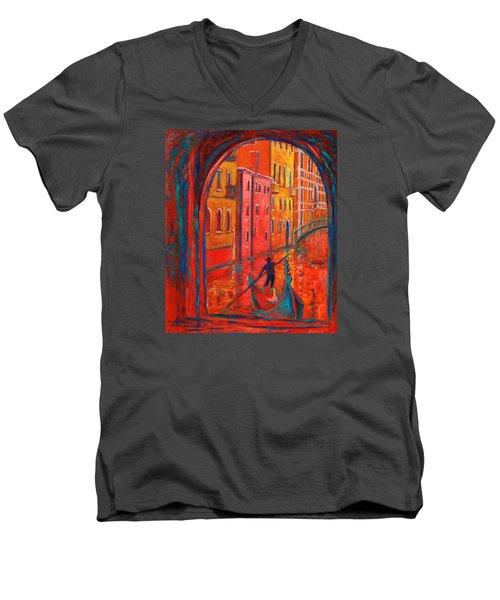 Venice Impression Viii Men's V-Neck T-Shirt by Xueling Zou