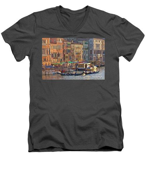 Venice Palazzi At Sundown Men's V-Neck T-Shirt