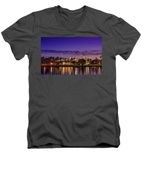 Venus Over The Minarets Men's V-Neck T-Shirt