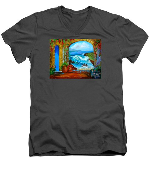 Veranda Ocean View Men's V-Neck T-Shirt