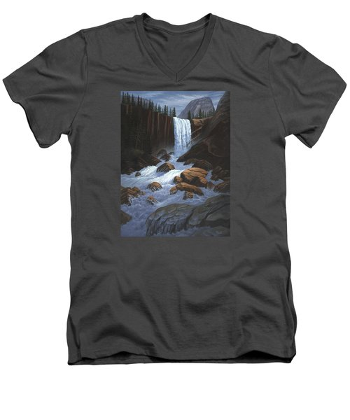 Vernal Falls Yosemite  Men's V-Neck T-Shirt