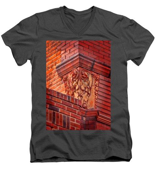Vertical Men's V-Neck T-Shirt