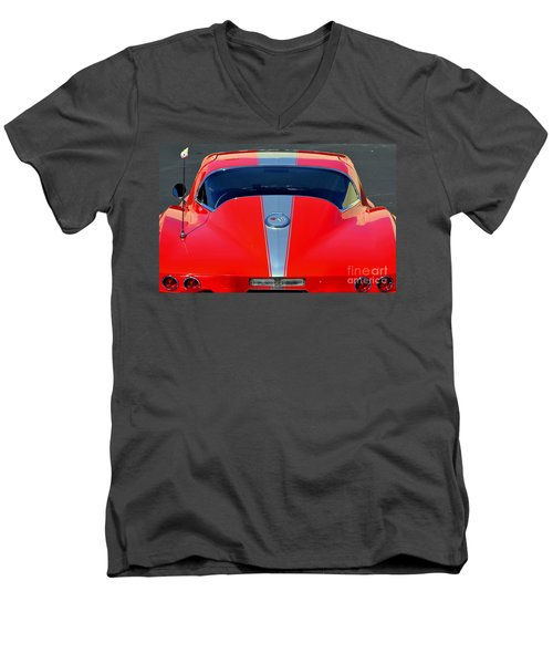 Very Cool Corvette Men's V-Neck T-Shirt