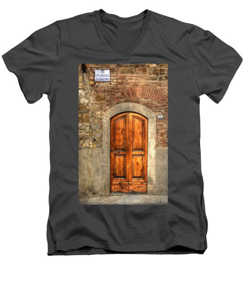 Via Francesco Men's V-Neck T-Shirt