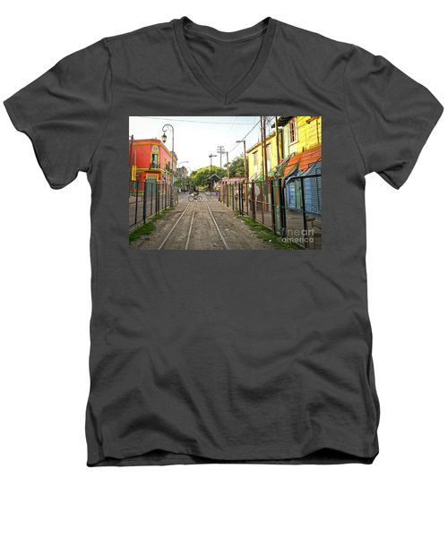 Vias De Caminito Men's V-Neck T-Shirt by Silvia Bruno