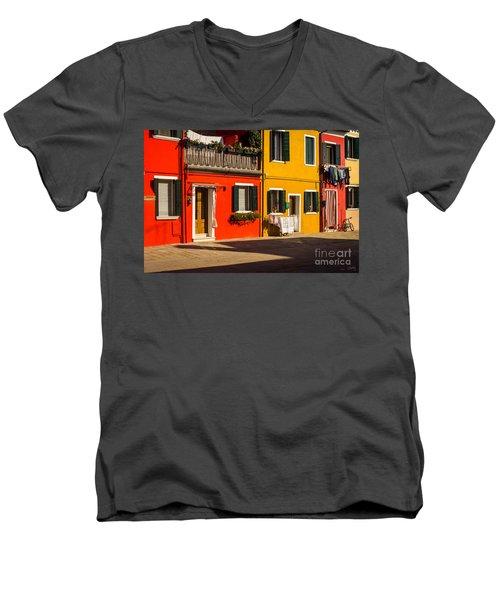 Vibrant Burano Men's V-Neck T-Shirt