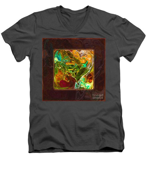 Vibrant Fall Colors An Abstract Painting Men's V-Neck T-Shirt