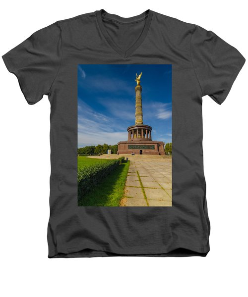 Victory Column Men's V-Neck T-Shirt
