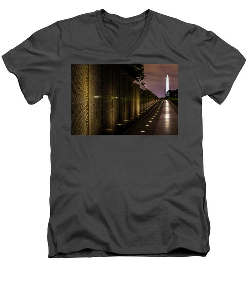 Vietnam Veterans Memorial Men's V-Neck T-Shirt