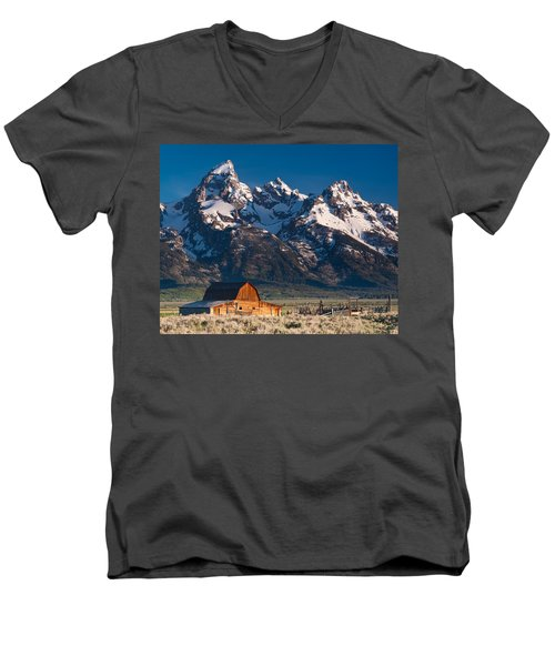 View At John Moulton Barn Men's V-Neck T-Shirt
