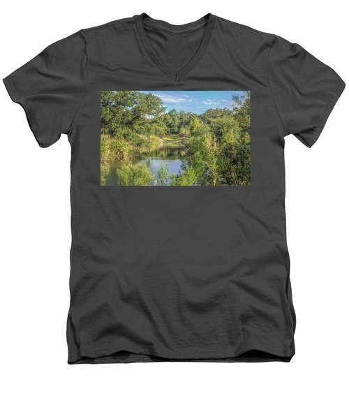 View Down The Creek Men's V-Neck T-Shirt