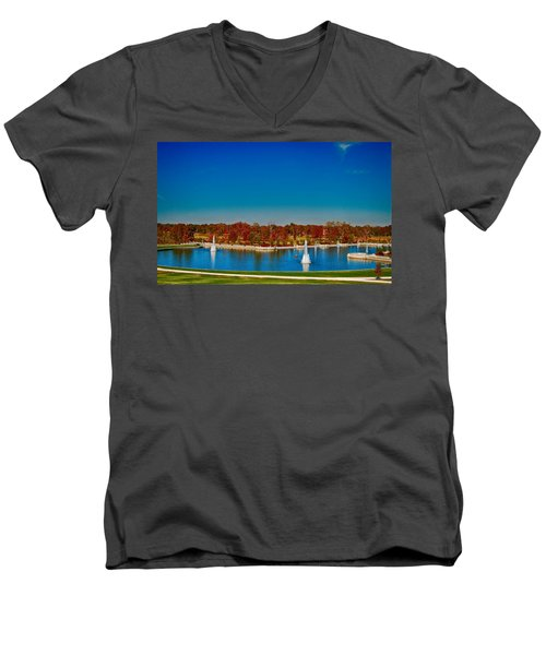 View From Art Hill Forest Park Missouri Men's V-Neck T-Shirt