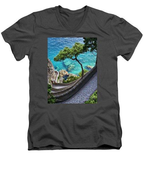View From Capri.italy Men's V-Neck T-Shirt by Jennie Breeze