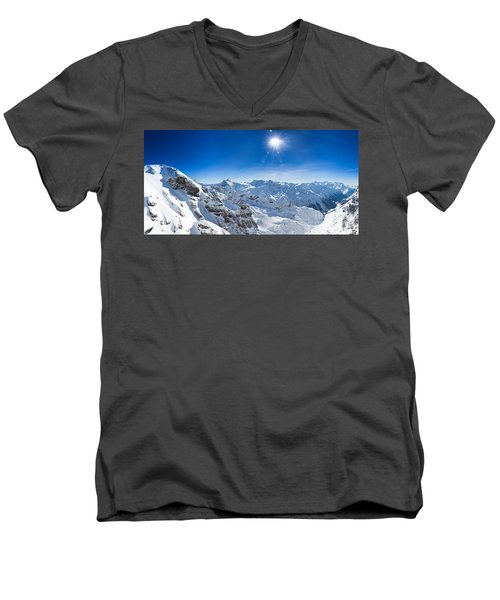 View From Titlis Mountain Towards The South Men's V-Neck T-Shirt