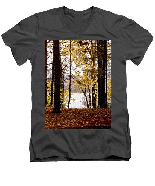 View Of  Lake Mcdonald Men's V-Neck T-Shirt