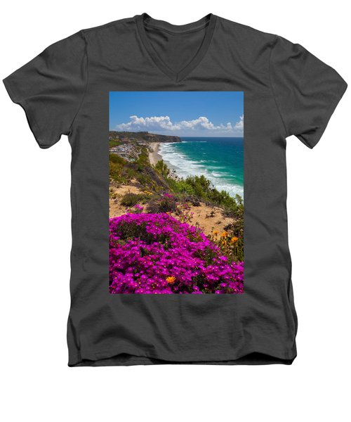 View Of Strand Beach And Dana Point Headland Men's V-Neck T-Shirt