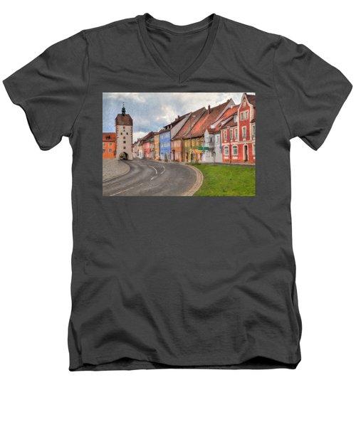Vilseck Marktplatz Men's V-Neck T-Shirt