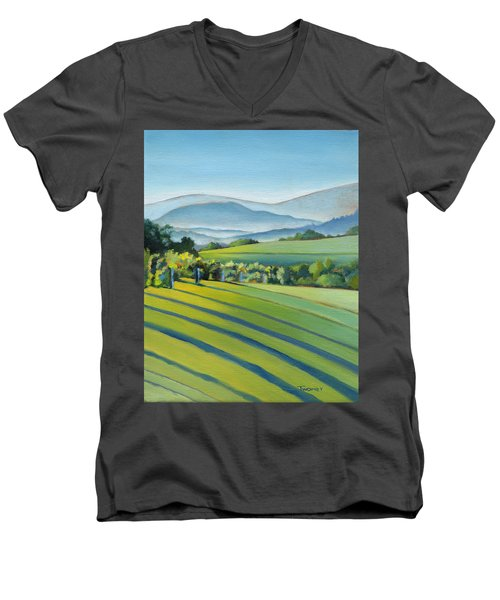 Vineyard Blue Ridge On Buck Mountain Road Virginia Men's V-Neck T-Shirt