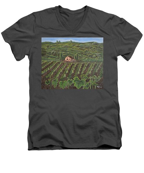 Vineyard In Neuchatel Men's V-Neck T-Shirt