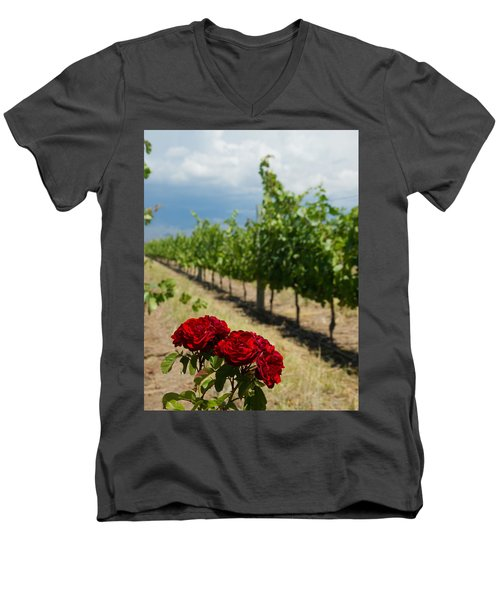 Vineyard Rose Men's V-Neck T-Shirt