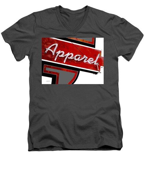 Vintage Apparel Sign Red And Gray Men's V-Neck T-Shirt