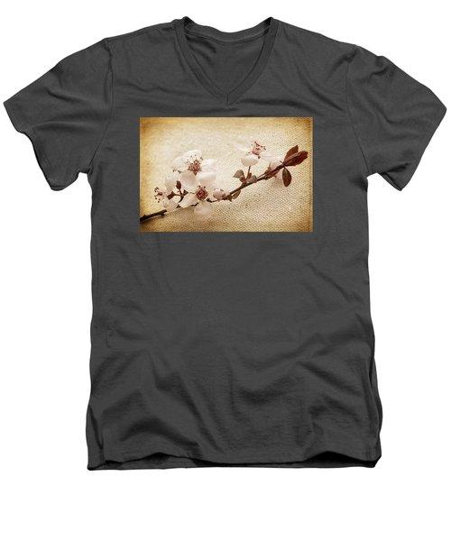 Vintage Blossoms Men's V-Neck T-Shirt