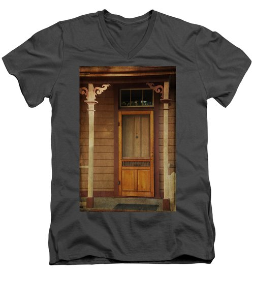 Vintage Doorway Men's V-Neck T-Shirt by Marilyn Wilson