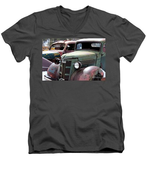Men's V-Neck T-Shirt featuring the photograph Vintage by Fiona Kennard