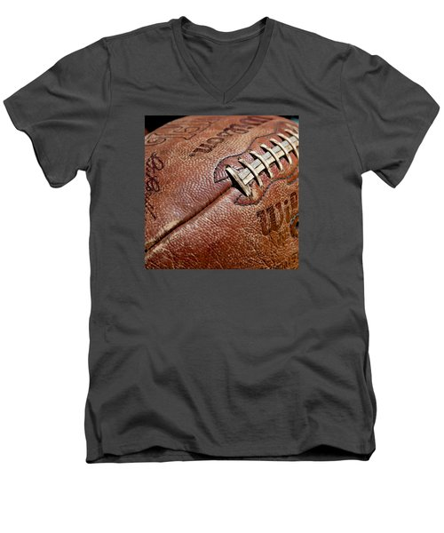 Vintage Football Men's V-Neck T-Shirt by Art Block Collections