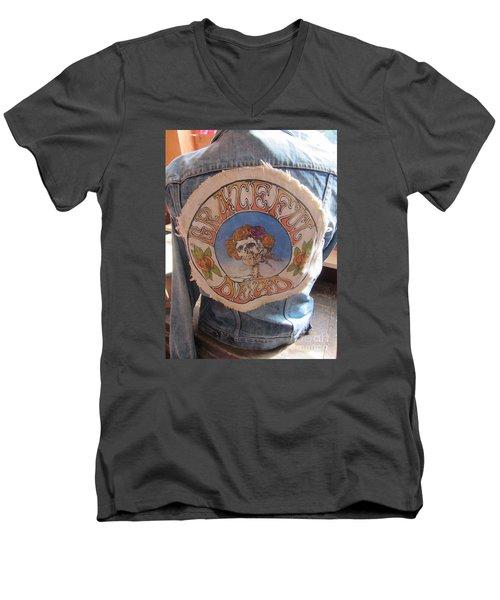 Vintage - Grateful Dead - Fashion Men's V-Neck T-Shirt by Susan Carella