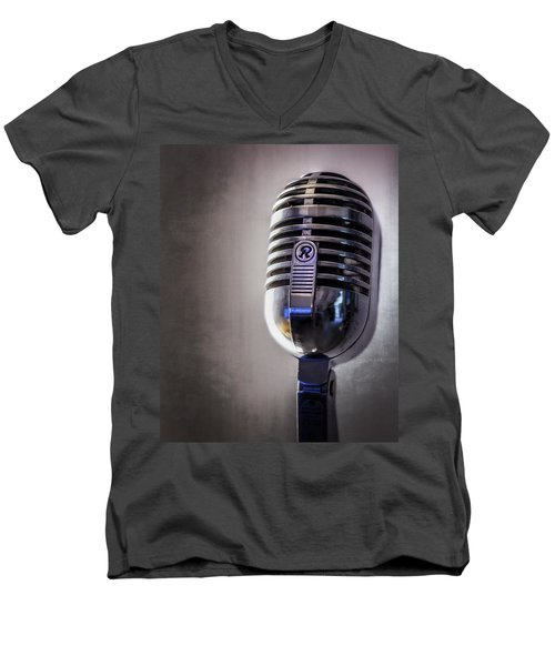 Vintage Microphone 2 Men's V-Neck T-Shirt