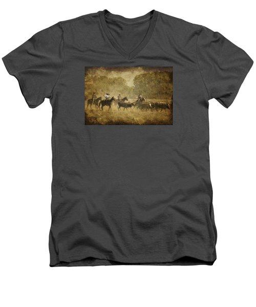 Vintage Roundup Men's V-Neck T-Shirt