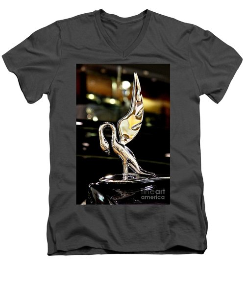 Vintage Swan Packard Hood Ornament Car Fine Art Photography Print  Men's V-Neck T-Shirt