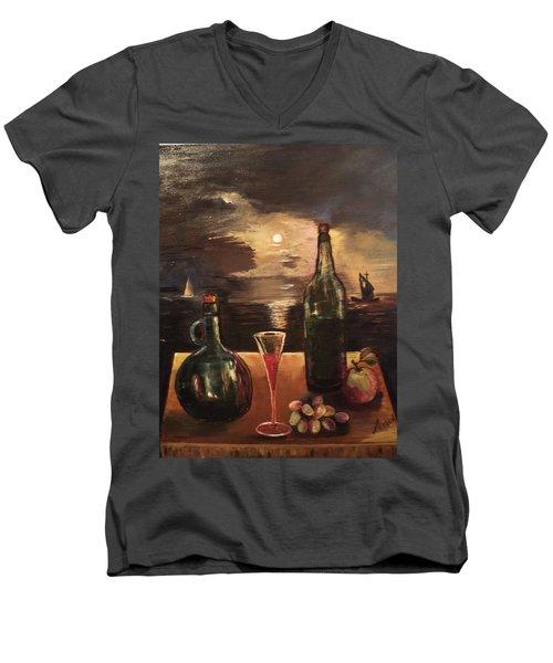 Vintage Wine Men's V-Neck T-Shirt