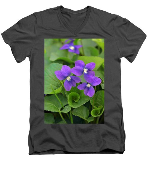 Violet Trio Men's V-Neck T-Shirt