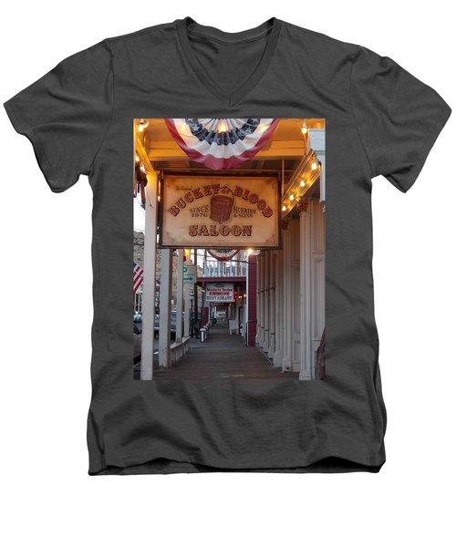Virginia City Signs Men's V-Neck T-Shirt