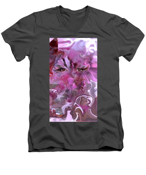 Vision Of Joy Men's V-Neck T-Shirt by Deprise Brescia