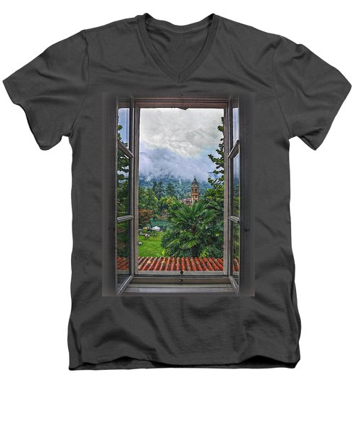 Men's V-Neck T-Shirt featuring the photograph Vision Through The Window by Hanny Heim