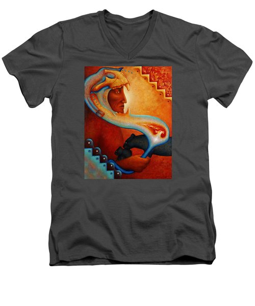 Visions Of A New Earth Men's V-Neck T-Shirt