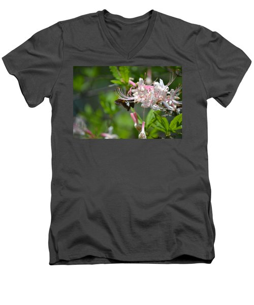 Men's V-Neck T-Shirt featuring the photograph Visitor by Tara Potts
