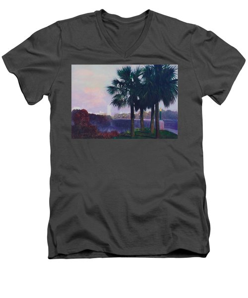 Vista Dusk Men's V-Neck T-Shirt by Blue Sky
