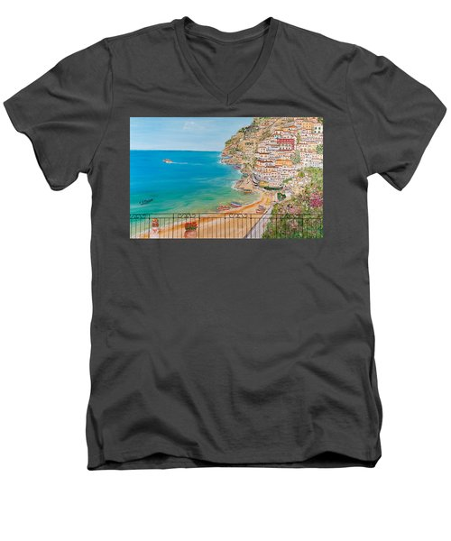 Vista Su Positano Men's V-Neck T-Shirt