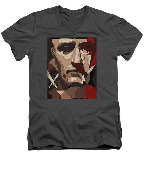 Las Vegas Painting With Hidden Pictures Men's V-Neck T-Shirt