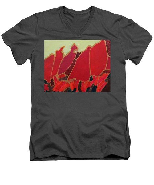 Volcano Vault Men's V-Neck T-Shirt
